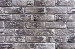 Tekstura szare cegły z czarnymi akcentami obrazy royalty free