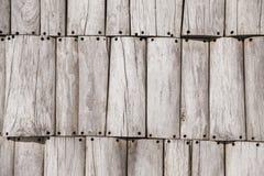 Tekstura szare szarości ogrodzenia deski Używać jako tło fotografia royalty free