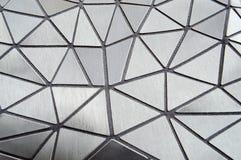Tekstura szarość rzeźbiący deseniujący plastikowi trójboki z zaokrąglonymi kątami i liniami verdure pozyskiwania środowisk gentil obraz stock