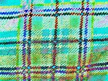 Tekstura Szkocka tkanina w komórce Neonowy, negatyw zdjęcia royalty free