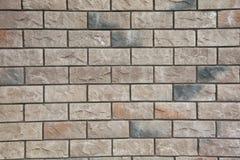 Tekstura - sztuczny dekoracyjnego kamienia façade Dekoracyjny siwieje kolor kamiennej ściany tła szorstką teksturę Fotografia Royalty Free