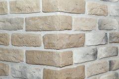 Tekstura - sztuczny dekoracyjnego kamienia façade Dekoracyjny siwieje kolor kamiennej ściany tła szorstką teksturę Obrazy Stock