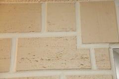 Tekstura - sztuczny dekoracyjnego kamienia façade Dekoracyjny siwieje kolor kamiennej ściany tła szorstką teksturę Obrazy Royalty Free