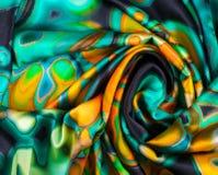 Tekstura, tło, wzór Tkanina turkus abstrakta schematu Zdjęcia Stock