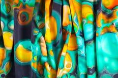 Tekstura, tło, wzór Tkanina turkus abstrakta schematu Zdjęcie Royalty Free