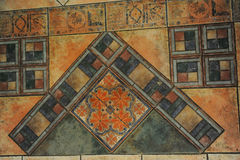 Tekstura taflująca podłoga w mozaika stylu Fotografia Stock
