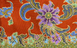 Tekstura tajlandzka tkanina Zdjęcia Royalty Free