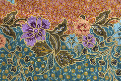 Tekstura tajlandzka tkanina Obrazy Royalty Free