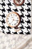 Tekstura, tkanina, tło Tekstura żeński smokingowy biel z Zdjęcie Royalty Free