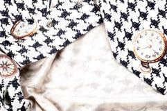 Tekstura, tkanina, tło Tekstura żeński smokingowy biel z Zdjęcia Stock