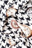 Tekstura, tkanina, tło Tekstura żeński smokingowy biel z Zdjęcia Royalty Free
