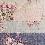 Tekstura tkanina z Barwionymi kwiatami. Obraz Royalty Free