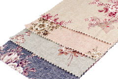Tekstura tkanina z Barwionymi kwiatami. Obrazy Stock