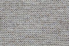 Tekstura trykotowa brown tkanina Naprzemianlegli rzędy Zdjęcia Stock