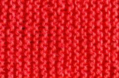 Tekstura trykotowy czerwony płótno Obraz Stock