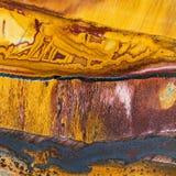 Tekstura tygrysa oka klejnotu kamienia zakończenia kopalny uo Obraz Stock