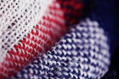 Tekstura wełny tkanina wyplata Obraz Stock