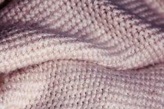 Tekstura wełny tkanina wyplata Fotografia Royalty Free