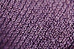 Tekstura wełny tkanina wyplata Obrazy Stock