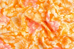 Tekstura, wzór Płótno - jedwabniczy modny kwiecisty tło Kwiecisty w Obrazy Stock