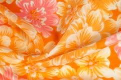 Tekstura, wzór Płótno - jedwabniczy modny kwiecisty tło Kwiecisty w Zdjęcie Stock