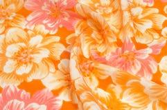 Tekstura, wzór Płótno - jedwabniczy modny kwiecisty tło Kwiecisty w Obrazy Royalty Free