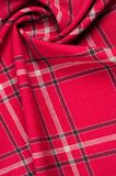 Tekstura, wzór Szkocki tartanu wzór Czerwona i czarna wełna p Zdjęcie Stock