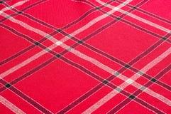 Tekstura, wzór Szkocki tartanu wzór Czerwona i czarna wełna p Fotografia Royalty Free