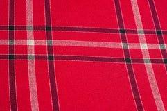 Tekstura, wzór Szkocki tartanu wzór Czerwona i czarna wełna p Obraz Stock