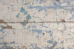 Tekstura, wzór, tło stara farba drewniana ściana pękająca z farbą Z białym tinge farba ostatecznie Obraz Royalty Free