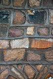 Tekstura, wzór tradycyjne kamiennego kamieniarstwa ściany hous Zdjęcie Royalty Free