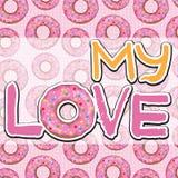 Tekstura z donuts Obraz Stock