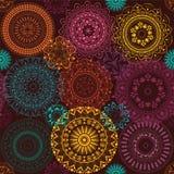 Tekstura z kolorowymi mandalas Zdjęcia Royalty Free