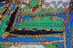 Tekstura z kolorowymi wzorzystymi tkaninami Obrazy Royalty Free