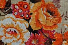 Tekstura z kolorowymi wzorzystymi tkaninami Fotografia Stock