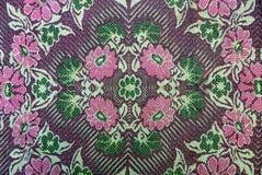 Tekstura z kolorowymi wzorzystymi tkaninami Zdjęcie Stock