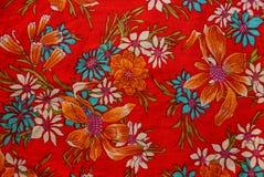 Tekstura z kolorowymi wzorzystymi tkaninami Obraz Royalty Free