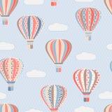 Tekstura z lotniczymi balonami Zdjęcia Stock