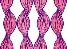 Tekstura z różowymi falistego włosy liniami Pionowo łańcuchy i warkocze kolorowych deseniowych planowanymi różnych możliwych wekt royalty ilustracja