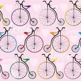 Tekstura z starymi rowerami Fotografia Royalty Free