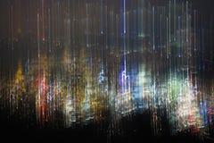 Tekstura zamazany nocy miasteczko abstrakcjonistyczna fotografia kolorowy bokeh i światło nocy miasteczko Zdjęcie Royalty Free