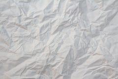 tekstura zdruzgotany papierowy biel zdjęcie stock