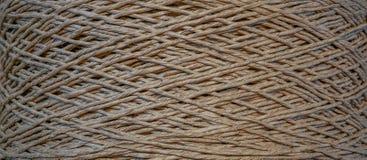 Tekstura zdyszany stary bawełniany sznur fotografia royalty free