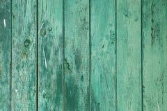 Tekstura zielone drewniane deski zdjęcia royalty free
