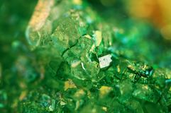 Tekstura zielony tło, kryształu agat Makro- Zdjęcia Stock