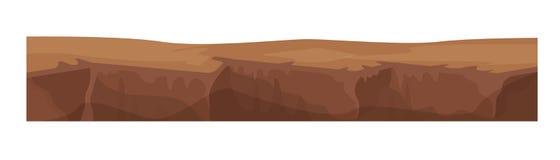 Tekstura ziemia, ziemia, ziemia dla pozioma gra ilustracja wektor
