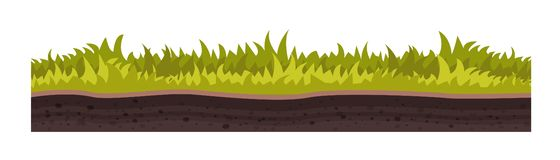 Tekstura ziemia, z trawą, gazon, roślinność ilustracja wektor