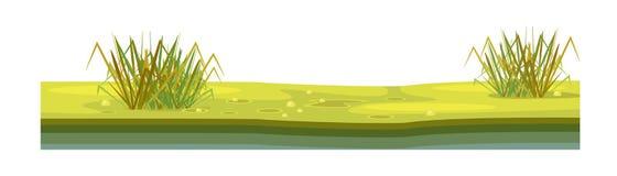 Tekstura ziemia, z trawą, gazon, roślinność royalty ilustracja