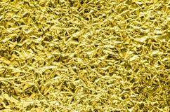 Tekstura zmięta alluminium folia Fotografia Stock