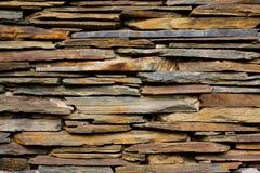 tekstury łupkowa kamienna ściana Fotografia Royalty Free